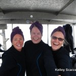 triplets, divers on boat