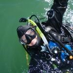 happy diver