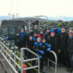 hornby divers, group shot, hornby island